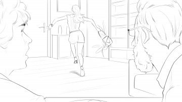 Projet rough/storyboard de Laurent COLONNA