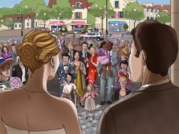 Projet rough / storyboard de France GARNIER
