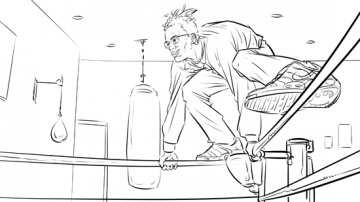Projet rough / storyboard de LOUIS CAZALIS