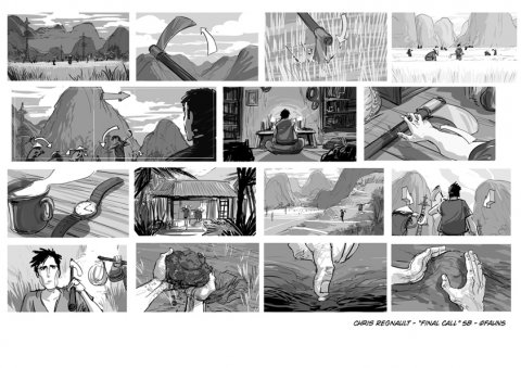 Projet rough / storyboard de CHRIS REGNAULT