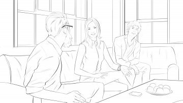 Projet rough / storyboard de Laurent COLONNA